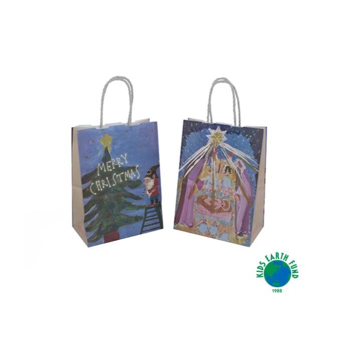 クリスマスデザインのショッピングバッグ配布について